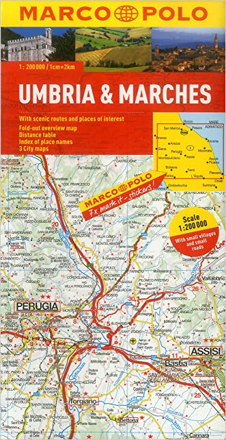 Umbria And The Marches Marco Polo Map (Marco Polo Maps)