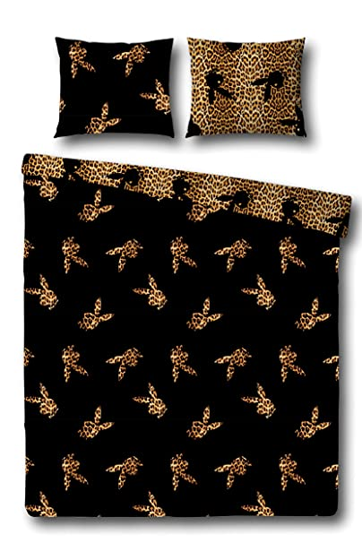 Playboy Wende Bettwäsche Flying Bunny Leopard 135x200 Cm Dgjkhkjlk