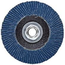 "Weiler Vortec Pro Abrasive Flap Disc, Type 27, Threaded Hole, Phenolic Backing, Zirconia Alumina, 4-1/2"" Dia., 60 Grit (Pack of 1)"