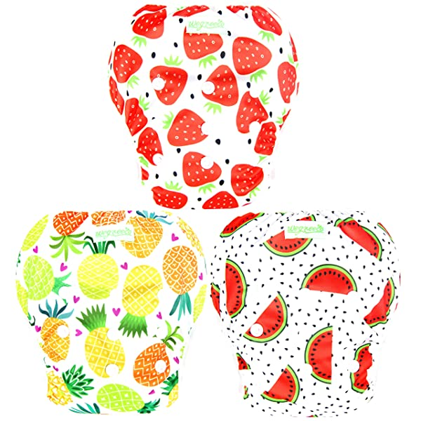 Navy,Large,3 Pack Wegreeco Baby /& Toddler Snap One Size Reusable Baby Swim Diaper