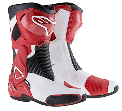 Alpinestars s-mX 6 paire de bottes de moto taille :  43 cm (blanc/rouge)