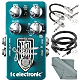 TC Electronic Dreamscape John Petrucci Signature Multi-Effects Pedal and Accessory Bundle w/ Cables & Fibertique Cleaning Cloth