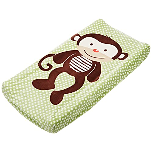 Summer Infant Plush Pals Changing Pad Cover Green/Brown (Monkey)