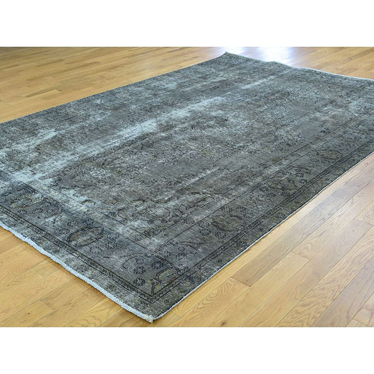 "Hand Knotted Persian Tabriz Overdyed Oriental Rug (66""x97"")"