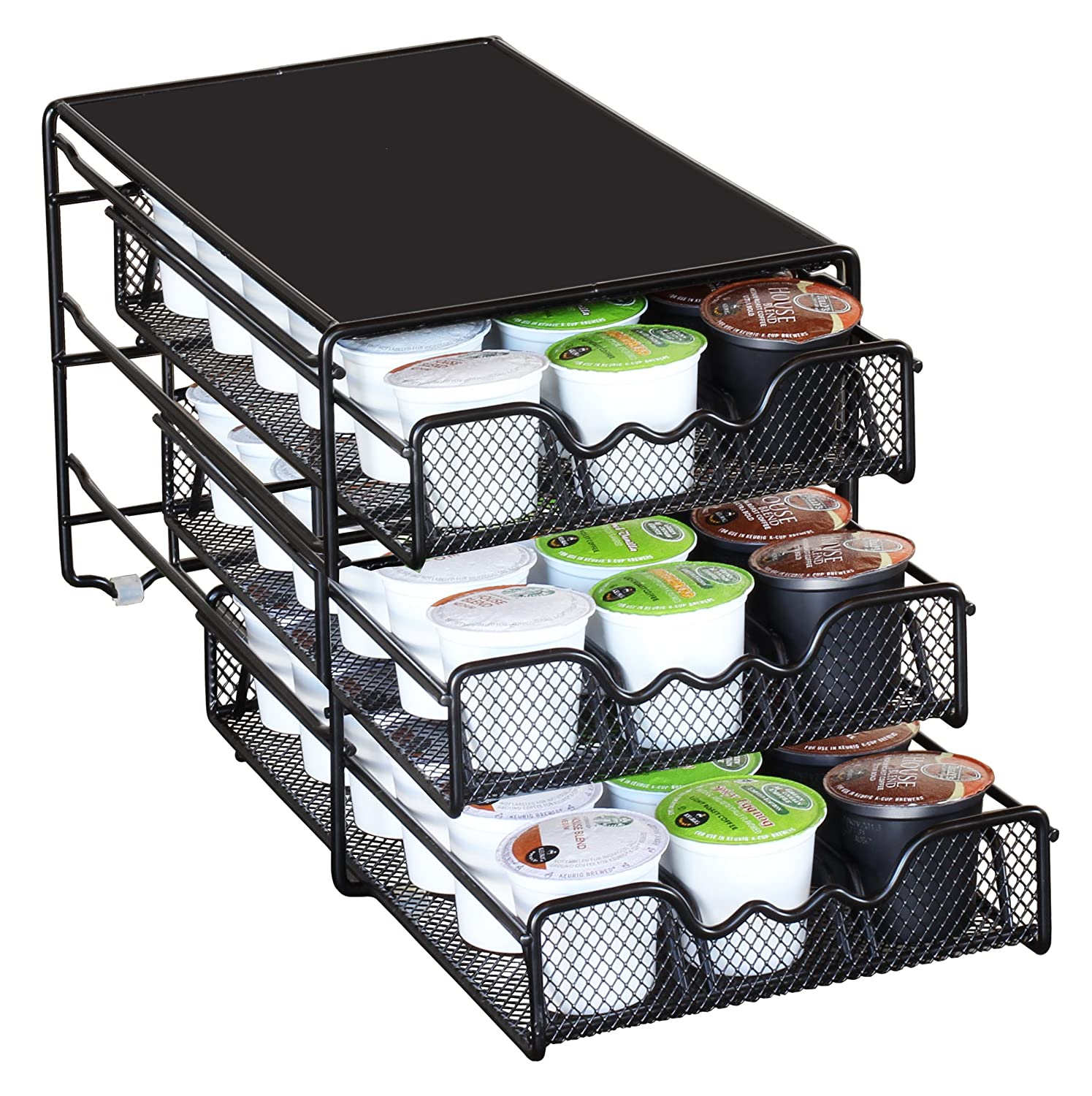 DecoBros 3 Tier Drawer Storage Holder 54 Keurig K-cup ...