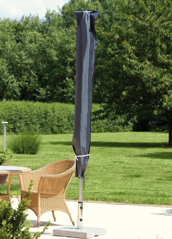Schutzhülle für Sonnenschirm Ø 180-200 cm schwarz/anthrazit in Premium-Qualität 2m günstig
