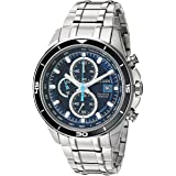 Citizen Men's  Quartz Stainless Steel and Titanium Casual Watch, Silver-Toned (CA0349-51L) (Color: Silver-Tone, Tamaño: One Size)