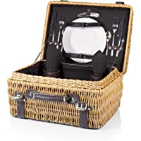 Picnic Time Champion Willow Picnic Basket - Multiple Colors