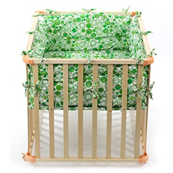 baby vivo parc pour pour bebe rectangulaire 100x75 vert. Black Bedroom Furniture Sets. Home Design Ideas
