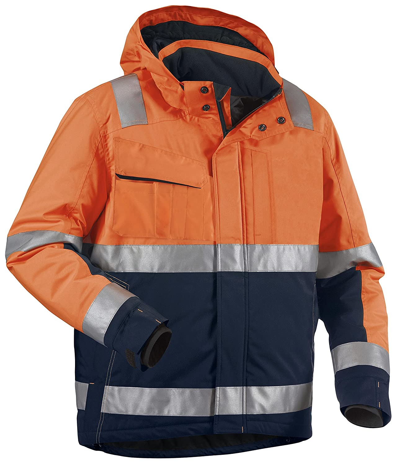 Blakläder High Vis Winter Bundjacke Kl. 3 Orange/Marineblau, 4870 1987 5389, Gr. XS