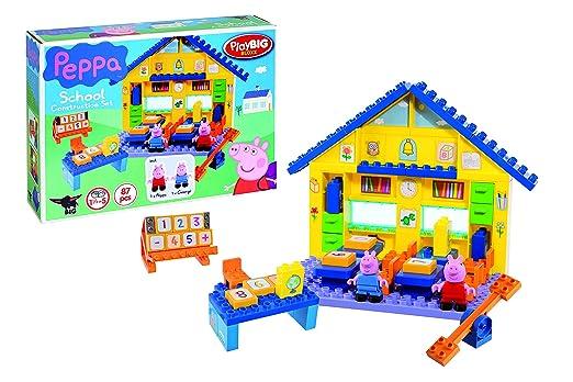 Smoby Toys, 057075, Peppa Pig, Jeu de Construction, L'Ecole De Peppa Pig - 85 Blocs