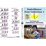 Embrilliance Font Collection 1 Embroidery Software for Mac & PC (Color: varies)