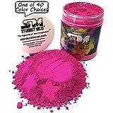 Neon Pink Pigment Powder for Resin Fluid Art, Soap Stable Mica Powder for Soap Making, Nail Pigment, Hot Pink Powdered Dye, Hot Pink Matte Pigment Powder Stardust Micas (Hot Pink, 72 Gram Jar) (Color: Hot Pink, Tamaño: 72 Gram Jar)
