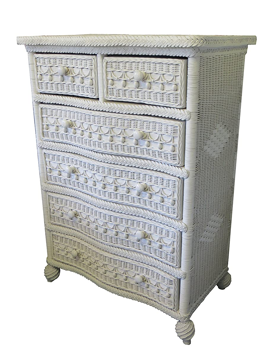 Spice Islands Classic 5-Drawer Dresser, Null, White