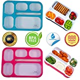 Adult Bento Box Kids Lunch Box 2-Pack - BPA-Free Bento Box for Portable Healthy Meals. Microwave & Dishwasher Safe Bento Boxes for Kids & Adults - Leakproof Bento Lunch Box For Adults & Kids Are Loved (Color: Pink/Blue)