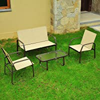 Outsunny 4-Piece Aluminum Outdoor Furniture Set + $15.99 Sears Credit
