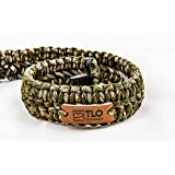 TLO Outdoors Paracord Gun Sling - Adjustable 2-Point Paracord Sling Rifle, Shotgun Crossbows (550 Rated Nylon, Kernmantle Paracord, Extra Wide, Green CAMO) (Color: Green Camo)