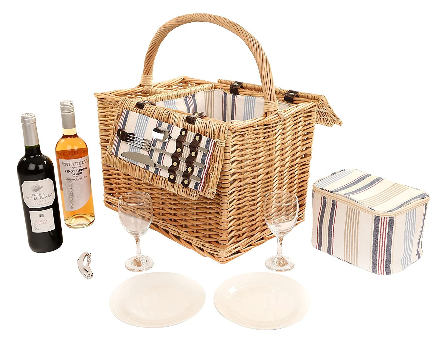 The Greenfield Collection GG037 Arundel Weide Picnic Hamper für Zwei Personen bestellen