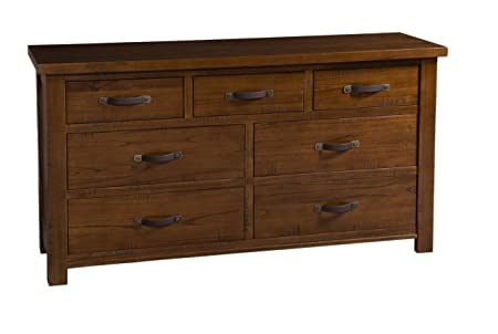 Hillsdale Outback Split 7 Drawer Dresser in Distressed Chestnut