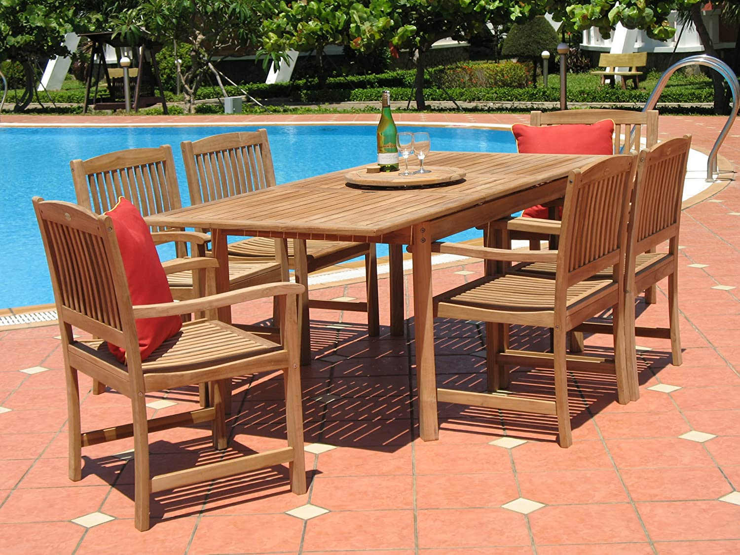 7 PC Teak Patio Set