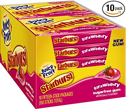 Juicy Fruit Starburst Cherry Smell Juicy Fruit Starburst Gum