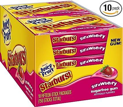 Juicy Fruit Starburst Gum Ingredients Juicy Fruit Starburst Gum