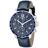 Tissot Men's T0954171604700 Quickster Stainless Steel Watch With Blue Synthetic Band (Color: Navy blue)