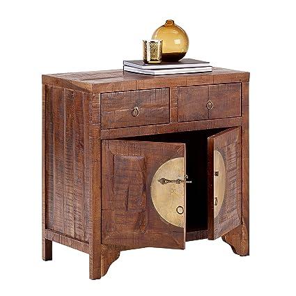 CHINA 8279 Kommode mit 2 Schubladen, 2 Turen, Holz, forest, 42 x 80 x 80 cm