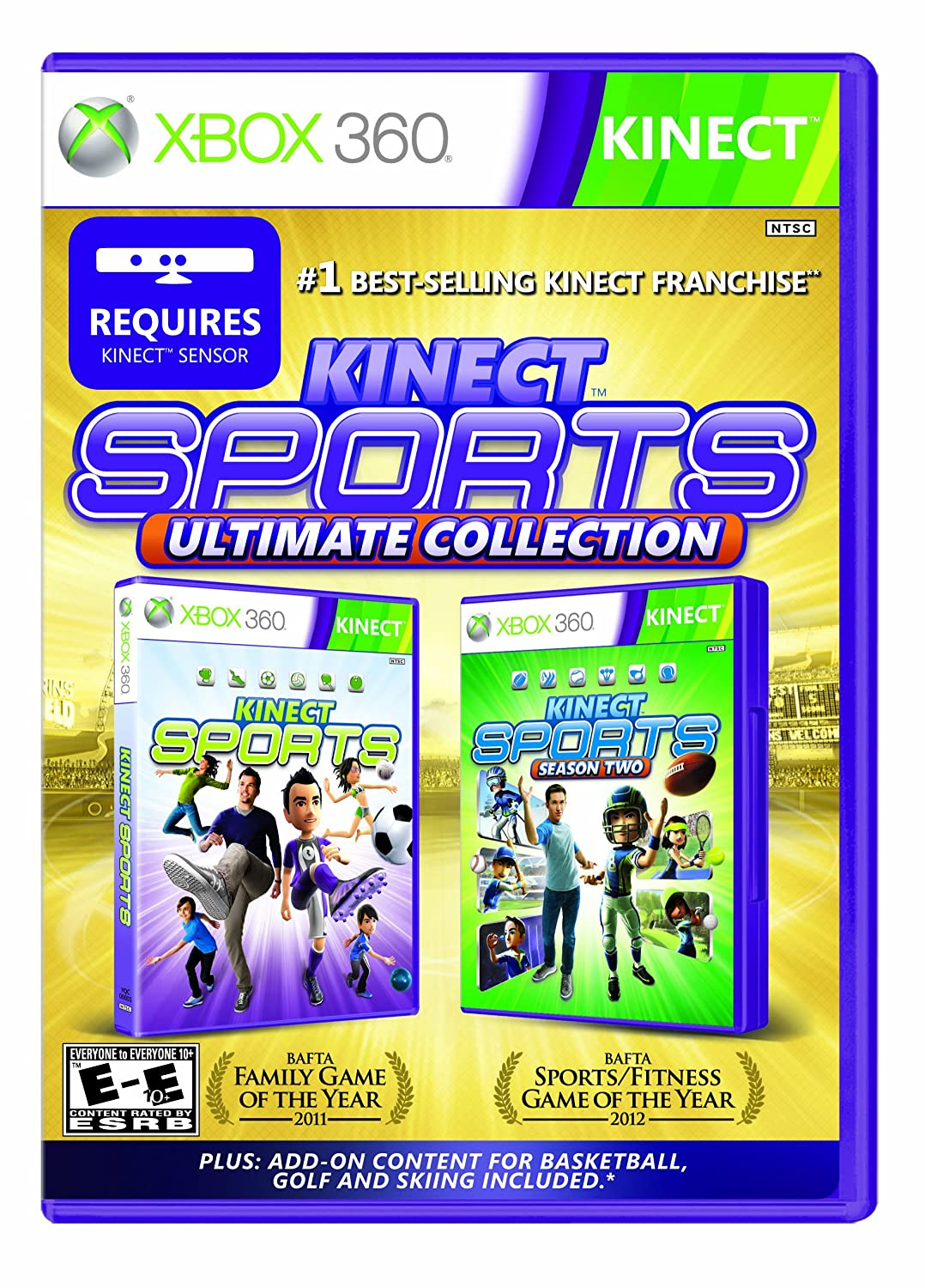 kinect sports ultimate collection xbox 360 kinect 2 disc. Black Bedroom Furniture Sets. Home Design Ideas