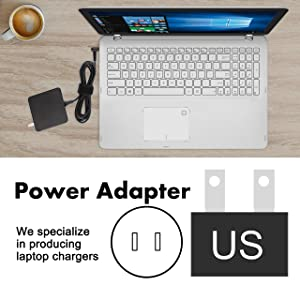 Charger Power Ac Adapter 65w for ASUS X556UQ F510UA F556UA TP510UQ TP410UA TP410UR UX360CA UX360C UX330UA UX330U UX310UQ UX410UQ UX430U UX430UQ UX303LA UX303LB UX303LN UX303UA S510UA S510UN X510U X541 (Color: 65w power adapter for asus)