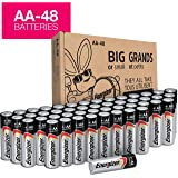 Energizer AA Batteries, Double A Battery Max Alkaline (48 Count) (Tamaño: AA-48)