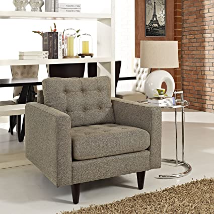 Empress Upholstered Armchair, Oatmeal