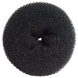 Diane Jumbo Hair Donut, Black, 5.5 Inch