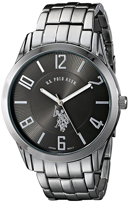 U-S-Polo-Assn-Classic-Men-s-USC80038-Analogue-Black-Dial-Bracelet-Watch