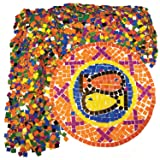 Roylco Double Color Mosaic Squares, Pack Of 10000 Squares