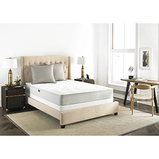 Safavieh Dream Collection Harmony Spring Mattress, 10-Inch/Queen, White
