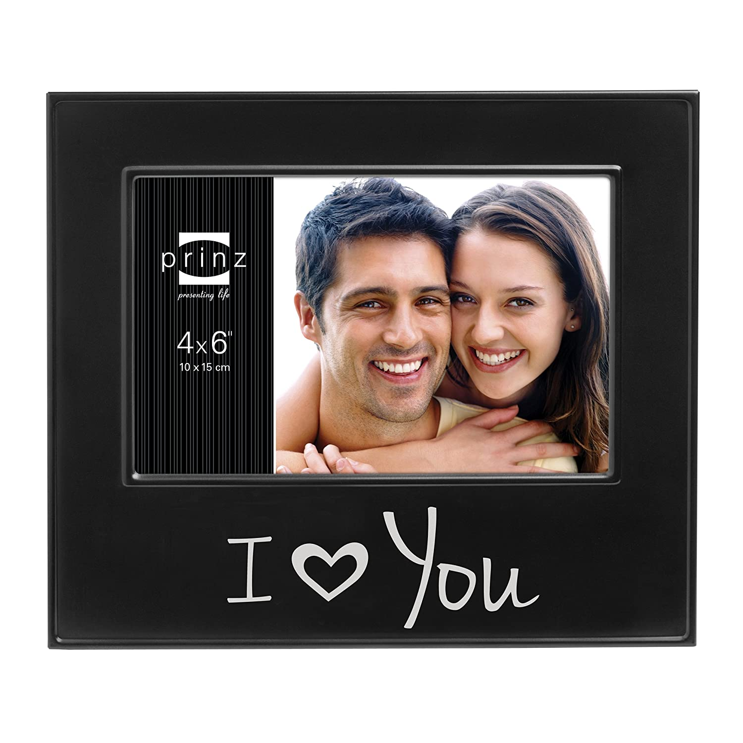 Prinz I Love You Metal Frame for 6 by 4-Inch Horizontal Photo