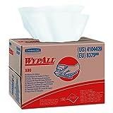WypAll 41044 X80 Wipers, HYDROKNIT, BRAG Box, White, 12 1/2 x 16 4/5, 160  Wipers Per Box