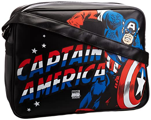 Unisex-Adult Marvel Captain America Messenger Bag