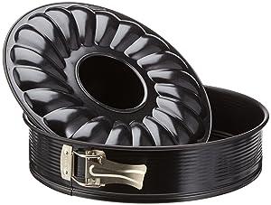 Zenker Pâtisserie - Molde desmontable, 2 fondos, 28 cm, color negro   revisión y más información