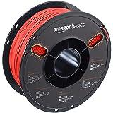 AmazonBasics PLA 3D Printer Filament, 1.75mm, Translucent Red, 1 kg Spool (Color: Translucent Red, Tamaño: 1.75mm)