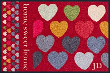 5 wash dry 056201 056201 tapis sixties hearts rouge for Tapis cuisine wash and dry