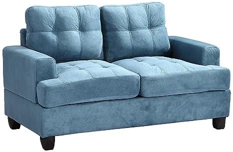 Glory Furniture G518A-L Living Room Love Seat, Aqua