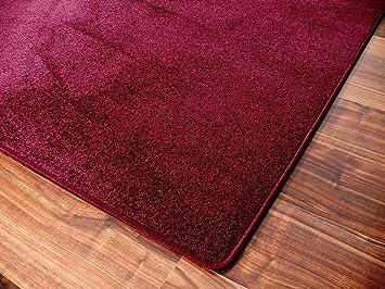 Feinschlingen Velour Teppich Strong Dunkelbraun in 24 Größen