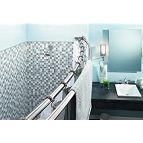 Double Curved Shower Rod Chrome
