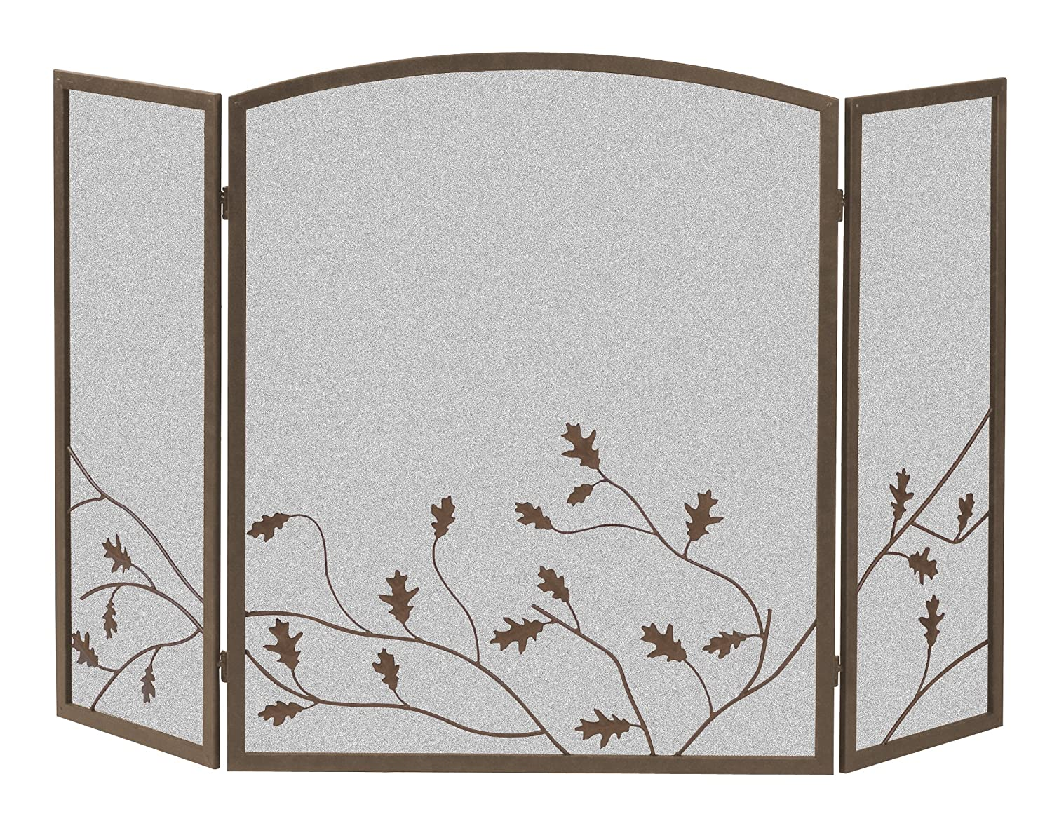 Panacea Products 15914 3 Panel Oak Leaf Fireplace Screen New Free Shipping
