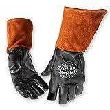 Defiant Metal TIG Welding Gloves Premium Black Goat Skin (Large) (Color: Black, Tamaño: Large)