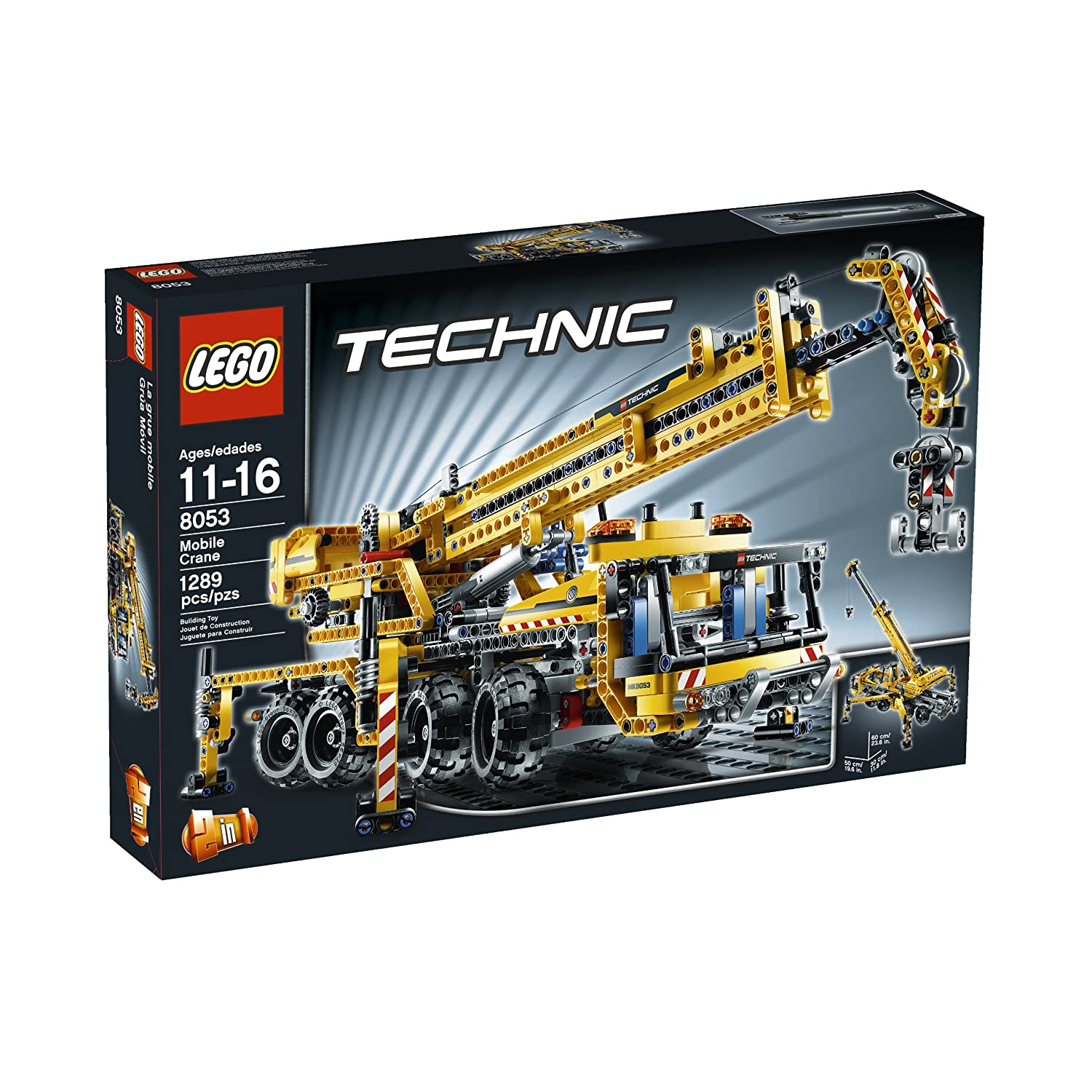 lego technic model 8053 mobile crane set 1289 pcs brand new ebay. Black Bedroom Furniture Sets. Home Design Ideas