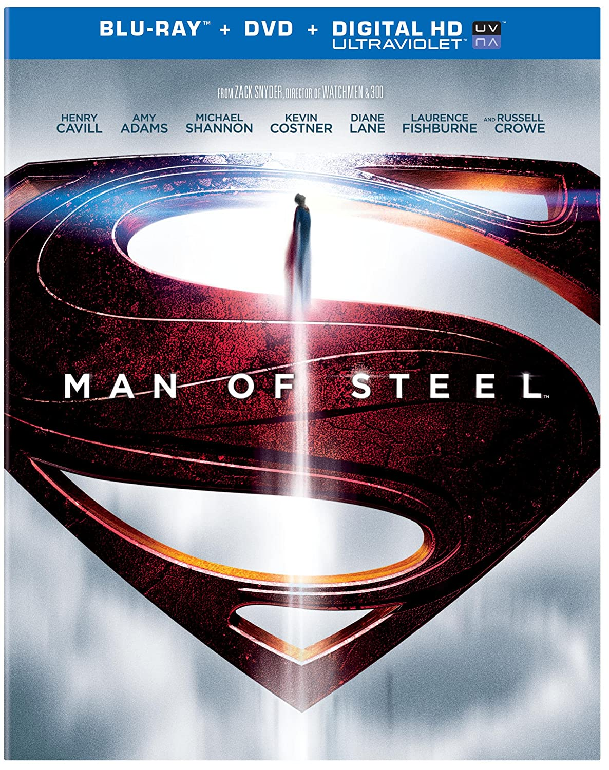 Man of Steel Blu-ray combo pack cover