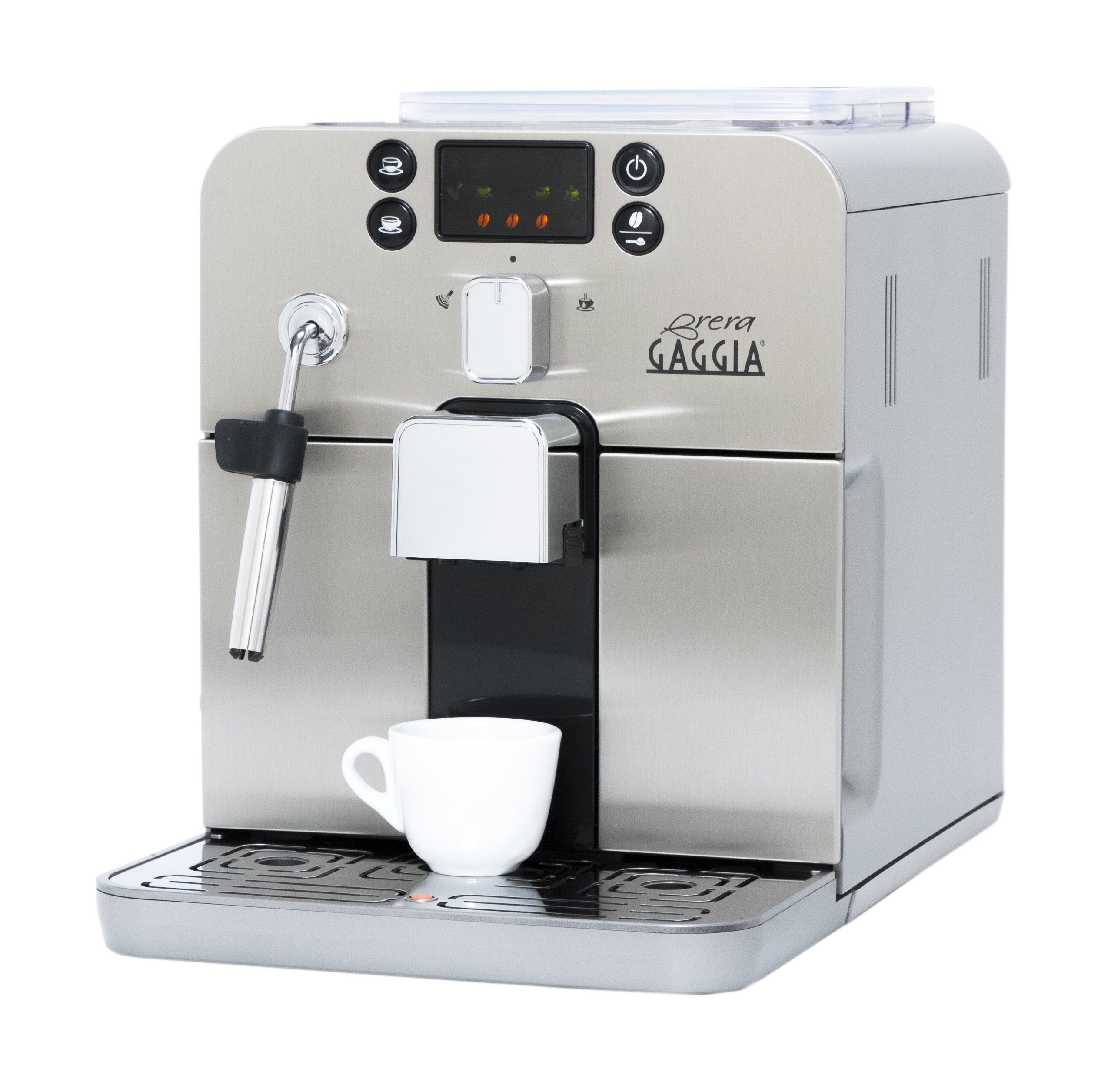 Gaggia Brera Super Automatic Espresso Machine in Silver